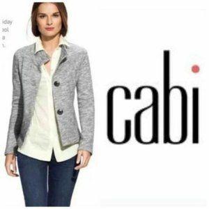 CAbi sweater jacket button up sz Medium gray